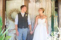 Bride in Watters Austin gown