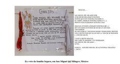 Carta ex-votiva, que consta no artigo, com descrição.
