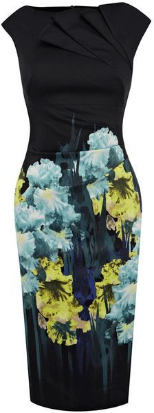 Karen Millen Placed Iris Print Dress