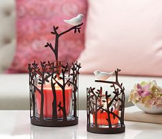 Cherry Blossom's, fresh colour and scent enhance rich brown tones. A #chic combination for spring!  www.partylite.biz/christamoy