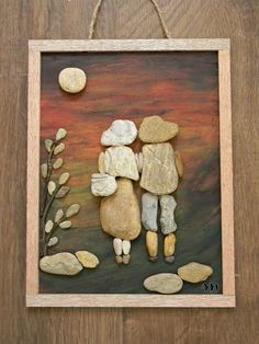 Glass art Videos Projects Vase - Sea Glass art For Sale - Glass art Videos Projects Ideas - Beach Glass art Nova Scotia - Stone Pictures Pebble Art, Stone Art, Stone Crafts, Rock Crafts, Pebble Art Family, Keepsake Crafts, Driftwood Crafts, Diy Wall Art, Rock And Pebbles