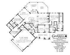 Nantahala Cottage House Plan 12016, 1st Floor Plan,Craftsman House Plans, Mountain Style House Plans