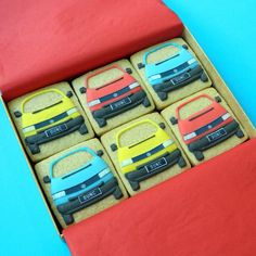 The Campervan Cookie Company - brilliant! Six Type 4 VWs - Small