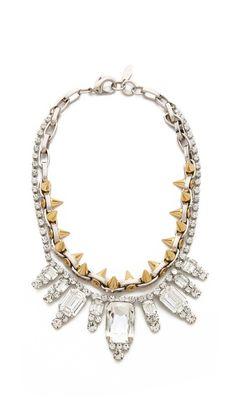 Joomi Lim Baroque Punk Crystal & Spike Necklace