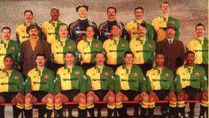 NEWTON HEATH L FOOTBALL CLULB. (MANCHESTER UNITED F.C.) FOTO CONMEMORATIVA A AL CELEBRARSE LOS 90 AÑOS DEL CLUB,(1992)