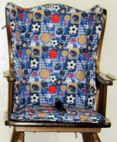 Make a Wooden High Chair Comfy!: Create a Custom Pattern and Sew a Highchair Seat Cushion
