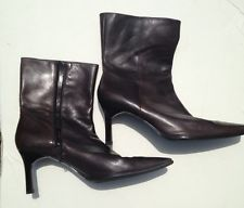 #ENZOANGIOLINI Mid Calf Women's Leather #Shoes Boots Brown  Zipper Size 10 M