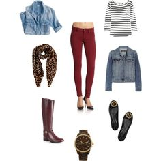 I just recently purchased oxblood colored jeans and it was definitely a great buy! I have had no problem at all pairing them with many of my other pieces. This shows two potential outfits.