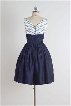 Gibson Punkte. Vintage 50er Jahre Kleid. 50er von millstreetvintage