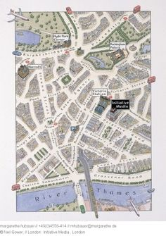 London map - Neil Gower