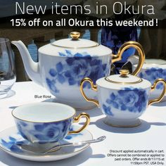 Okura has new items, and ALL Okura is 15% off this weekend! (Details in image) http://bit.ly/1JhJ7dF #sale #giftware #okura