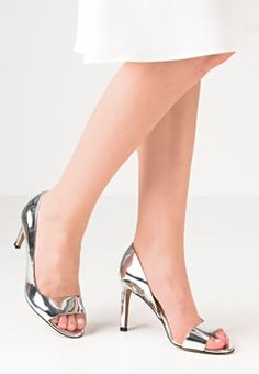 French Connection - LIEVE - Højhælede peep-toes - silver