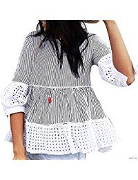 New Chicwish Women's Black Stripes Contrast Ruffle Shirt Blouse Top with Eyelet Cuffs and Hemline online. Find the perfect Calvin Klein Tops-Tees from top store. Sku WQMC71452LJIU10552