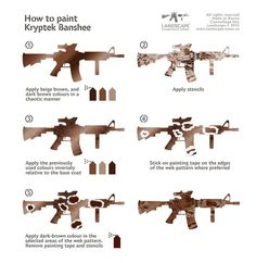 Airsoft hub is a social network that connects people with a passion for airsoft. Talk about the latest airsoft guns, tactical gear or simply share with others on this network How To Paint Camo, Camo Paint, Camo Stencil, Camo Guns, Tape Painting, Camouflage Patterns, Airsoft Guns, Guns And Ammo, Painting Patterns