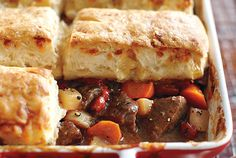 Beef Stew With Cheese Biscuits. Cooking the shallots until caramelized creates the flavour base, and their subtle sweetness naturally balances out the sharp blue cheese. If you're not a fan of blue, try extra-old Cheddar instead