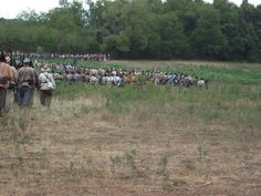 Confederates headed into Battle at Wilson's Creek. Mo. August 2011