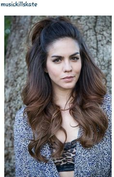 HOT hair...  katie from vanderpump rules...   LOVE this look!  Circa Priscilla Presley!!!!