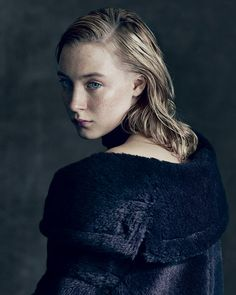 Saoirse Ronan (The Lovely Bones, Hanna, The Host)  Max Mara coat, $3,250; (212) 879-6100. Proenza Schouler choker, showpiece only.