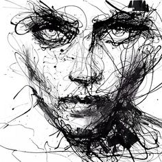 Agnes-Cecile - beautiful painting where the subject looks fierce and powerful. There is a sense of confusion conveyed through the style of the artist which links to disorder.