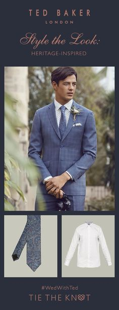 Style the look: Take a tailored approach with Ted's classic accessories Designer Suits For Men, Designer Ties, Wedding Men, On Your Wedding Day, Wedding Ideas, Looking Dapper, Tie The Knots, Wedding Looks, Bridal Boutique