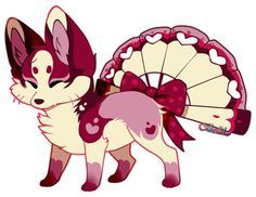 This is a Foxfan for Fucal Thank you so much giving us the opportunity to do a Valentine themed Foxfan!! We loved the color palette ;w; and we're so glad you like it! Art (c) Character belongs to F...