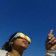 Die Sonnenfinsternis kann kommen!!! Wir sind vorbereitet und freuen uns schon auf morgen!! Die Papanga So-Fi-Brille hat heute den Test bestanden!!