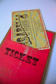 angenuity: Vintage Circus birthday party invitation