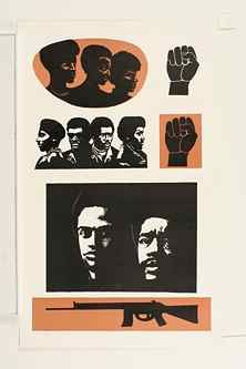 Elizabeth Catlett, Malcolm X Speaks for Us, 1969/2000, Color lithograph