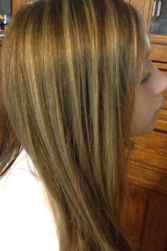 Summer blonde foils hair
