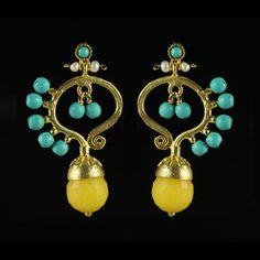 Butterfly Earrings Yellow