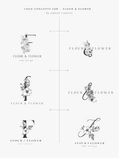 Flower logo designs for flour and flower