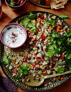 Middle Eastern Chopped Salad with Sumac Yoghurt Dressing