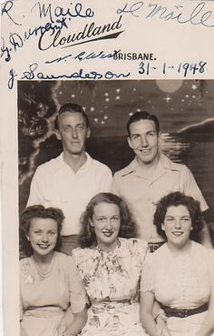 Doug and Lorraine Maile on right. 1948