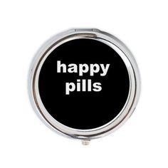 Happy Pills Round Pill Box on CafePress.com