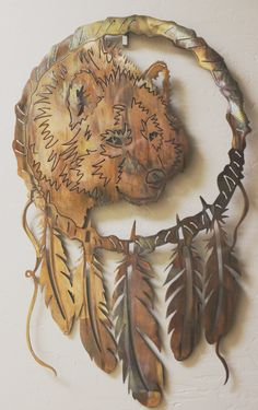 Wolf Dream Catchers WolfNew Series by HEAVENSGATEMETALWORK on Etsy/Adoreable