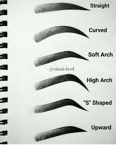 WEBSTA @ makeupaddictioncosmetics - ✔️ Brow shapes - What's your favourite ⁉️➖ Mine is Soft arch ➖#makeupaddictioncosmetics