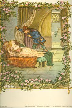 TASHA TUDOR FAIRY TALES, SLEEPING BEAUTY - COLOR PRINT. : Cellar Door Books - The World of Tasha Tudor