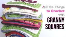 20+ Easy Crochet Projects with Granny Squares • RaffamusaDesigns Simply Crochet, Double Crochet, Free Crochet, Knit Crochet, Preemie Crochet, Crochet Beanie, Easy Granny Square, Granny Squares, Crochet Squares