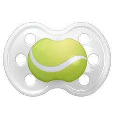 Shop Tennis Ball Pacifiers created by sports_store. Personalize it with photos & text or purchase as is! Tennis Grips, Tennis Clothes, Orthodontics, How To Relieve Stress, Best Part Of Me, Baby Shower Gifts, New Baby Products, Football Soccer, Hockey