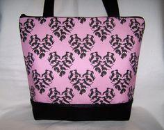 """Unique Pink """"Doxie Love"""" Dachshund - Wiener Dog - Handbag-Purse-Bag by OscarsCreations on Etsy"""