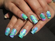 Neon Twist Water Marble See the tutorial:  http://youtu.be/DZlC-f1UR2o