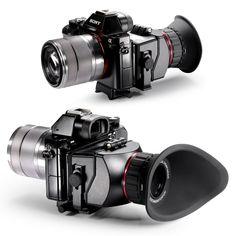 "Neewer® S4 3X Plegable Visor Óptico Magnificación para Sony a7 a7R a7II a7S NEX-7 NEX-6 NEX-5R ... y otros 3"" 16:9 Pantalla LCD HD Video Cámaras 71€"