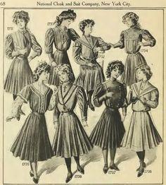 Sailor Suits 1907 Edwardian & WWI - Past A La Mode ~ Children's Fashion
