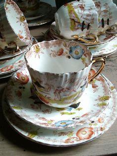 Vintage fine bone china teacup and saucer set