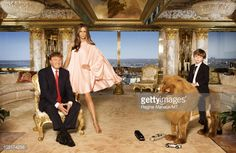 Donald Trump, Melania Trump and their son Barron Trump pose for a portrait on April 2010 in New York City. Donald Trump is wearing a suit and tie by Brioni, Melania Trump is wearing a dress by. Get premium, high resolution news photos at Getty Images Trump Melania, Trump Tax Plan, Trump Taxes, Trump Family Tree, Manolo Blahnik, Torre Trump, Trump Home, Donald And Melania, Thing 1