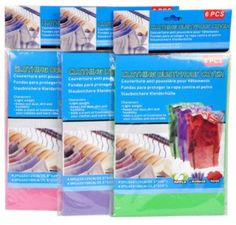 Dustproof Clothing Covers Case Pack 4