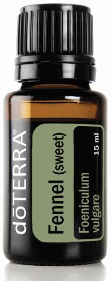 fennel essential oil: Relieves indigestion and digestive troubles. Eases monthly menstrual cycles. Supports healthy lymphatic system. Calms minor skin irritations. - See more at: http://doterrablog.com/eo-spotlight-fennel-sweet/#sthash.YUo9nJV9.dpuf