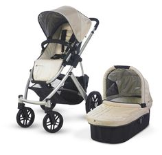 2013 UPPAbaby Vista Single Baby Stroller w/ Bassinet - Lindsey/Wheat   #UPPAbaby