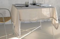 SOCIETY raw linen table bloth