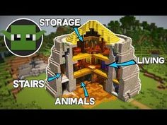 Minecraft Tutorial: Iron Age House (How to Build a Survival Base) - YouTube